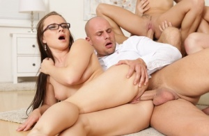 Hot sluts get anal fucking and covered in cum in hot groupsex swingers orgy 49372136