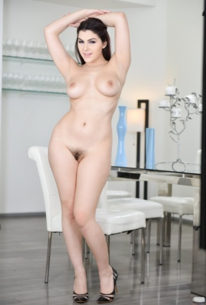 Sexy brunette female Valentina Nappi sports a creampie after fucking