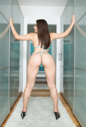 European pornstar Valentina Nappi shows off her natural tits and phat booty 46214205