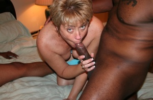 Mature woman Tracy Lick and her girlfriend get gangbanged by black men