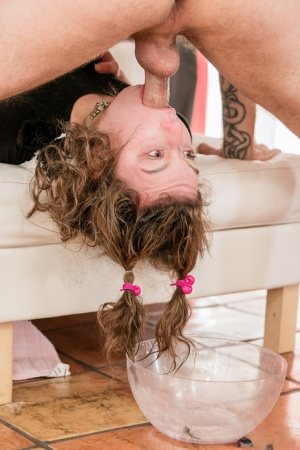 Submissive chick Harley Ann Wolf gets brutalized by Bryan Gozzling
