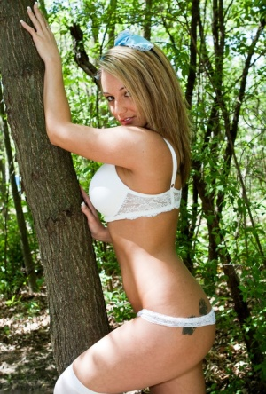 Hot Nikki Sims as Alice in wonderland getting naked & naughty in the woods 23608049