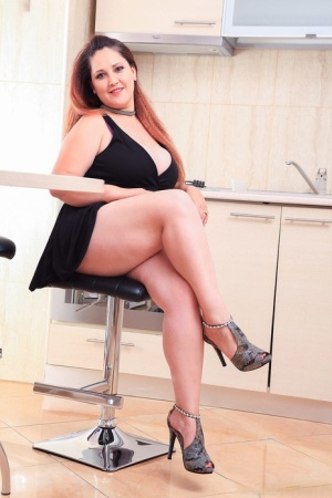Fat redhead Crazy Maria has tits so huge she can lick and suck her nipples 51501503