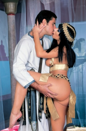 Sexy cosplay girl Julia Taylor rides a hard cock cowgirl while in constume