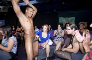 Drunk chicks get wild and crazy with male strippers on ladys bight