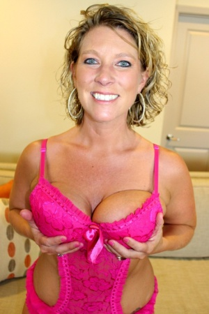 Bit titted older blonde May Waters brings her gangbang fantasies to life