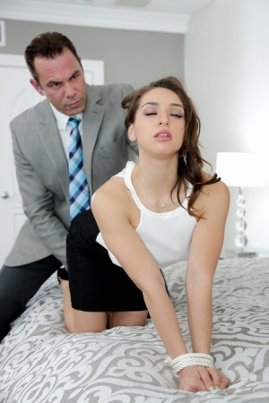 Small boobed Latina gets dominated by her strong hubby in hardcore XXX scene
