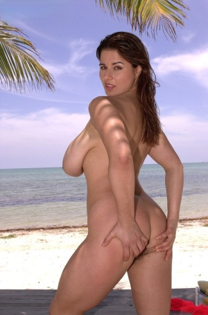 MILF with a hairy cunt Chloe Vevrier uses tropical fruits on her giant tits