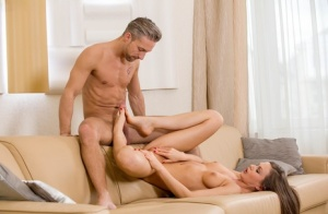 Sexy Tina Kay gives naked chef hubby a blowjob  cowgirl ride before dinner