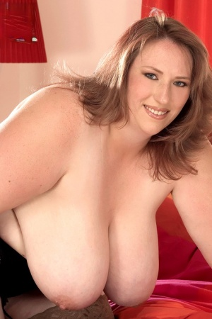 Overweight woman Karen Udders looses her giant tits before licking a nipple 31864899