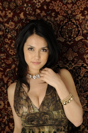 Japanese beauty Maria Ozawa models non nude in a dress and jewelry 46430979