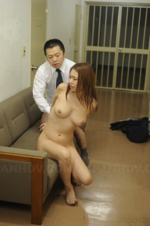 Japanese female drips jizz after being forced into sex while in jail