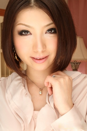 Delicious Asian babe Tsubaki poses in her lovely uniform before going to work 99846411