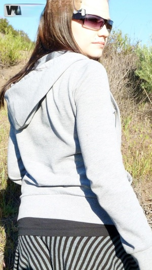 Amateur girl Brandy pull her guys dick out during a hiking trip