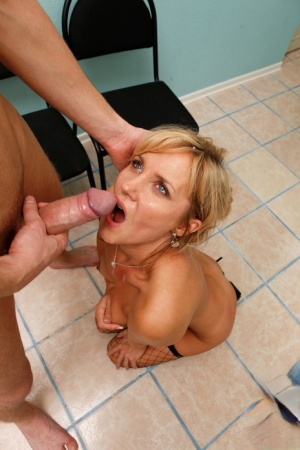Hot blonde MILF Zlata goes ass to mouth after seducing a younger man