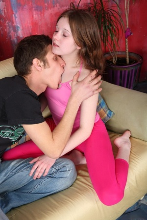 Young looking girl goes pussy to mouth with a long cock after a blowjob