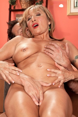 Horny old granny Luna Azul gets a thorough fucking at the office