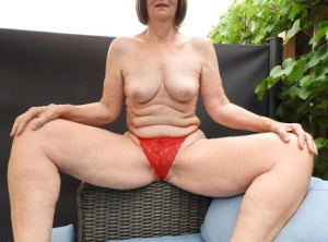 Old woman Katkitty showcases her snatch before putting on underwear 10510163