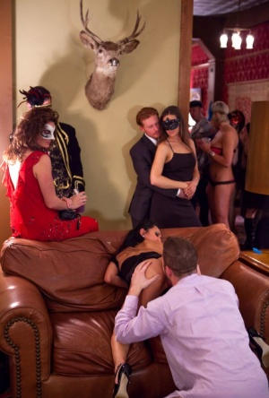 Horny women switch husbands for hot fucking at interracial swingers party 32494803