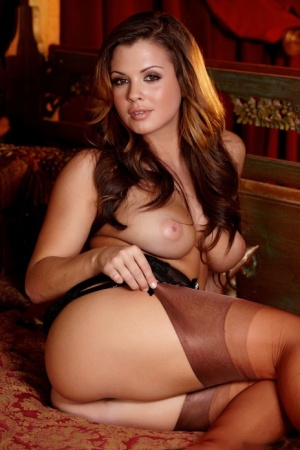 Latina model Keisha Grey showcases her trimmed pussy during a centerfold shoot 22525618
