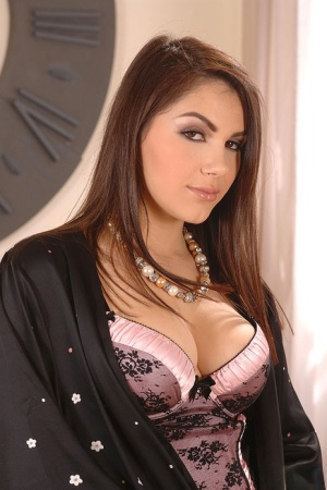 Hot brunette Valentina Nappi is forced to have sex with two home intruders