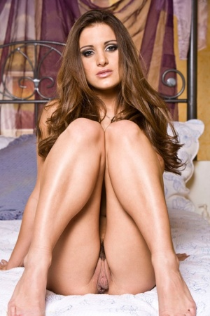 Solo girl Andie Valentino slip off pink lingerie for a centerfold spread 39630314