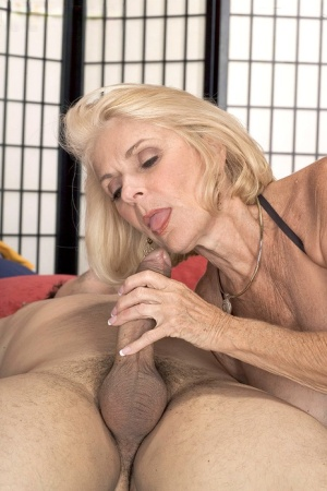 Busty blonde granny Georgette Parks seduces and fucks a younger man 73453183