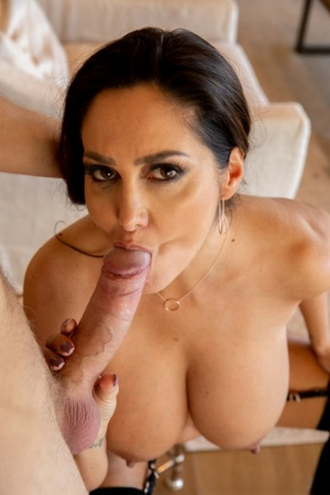 Big titted woman Ava Addams purses cum covers nipples after POV sex acts 87118208
