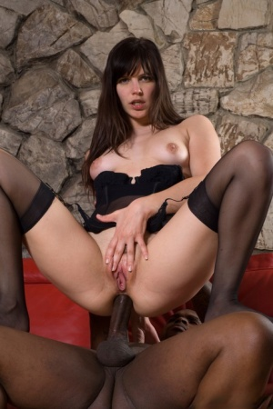 Dark haired chick Bobbi Starr eats cum after fucking and deepthroating a BBC 74105365