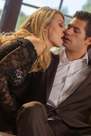 Busty blonde Natalia Starr displaying nice ass during hardcore office sex 21136091