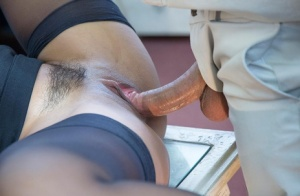 Sexy Latina broad Isabella gets her hairy pussy drilled in the office 42928085