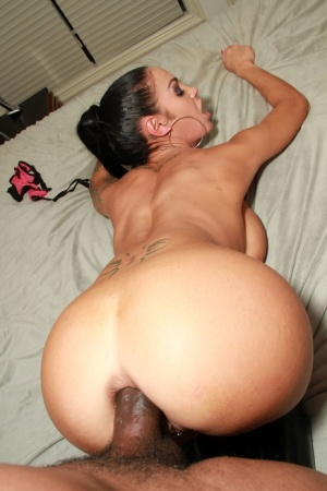 Big butt model Angelina Valentine in boots getting interracial ass fucking