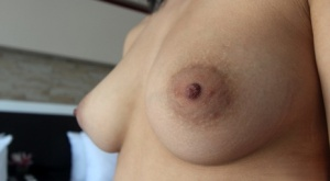 Thai first timer Jang has a firm breast fondled before showing her tight slit