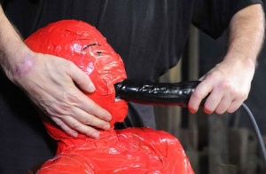 BDSM freak Claire Adams mummified in latex and brutally tortured 72024599