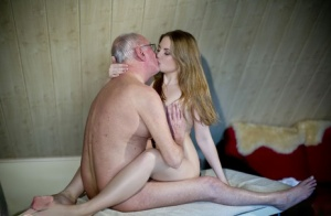 Pretty young slut kissing her sugar daddy and riding hardcore cowgirl style 22694484