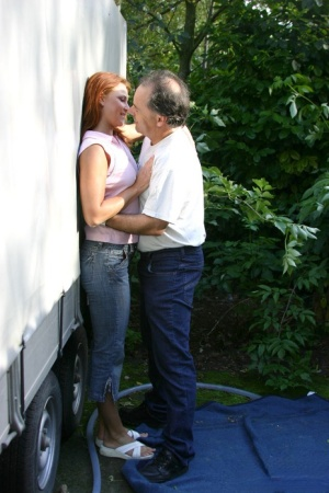 Young redhead hooks up with her older boss for their weekly fuck session 82542027
