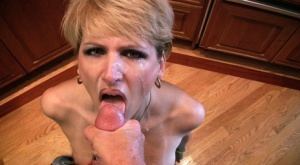 Old slut Racquel Devonshire gives a POV blowy for a shot of hot cream 30574974