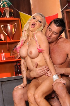 Hot MILF Helly Mae takes a jizz load on her big boobs after a wild fuck