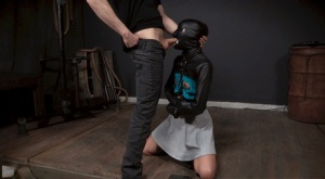 Dark haired chick Eden Sin is used as a cum receptacle during BDSM sessions 66979424