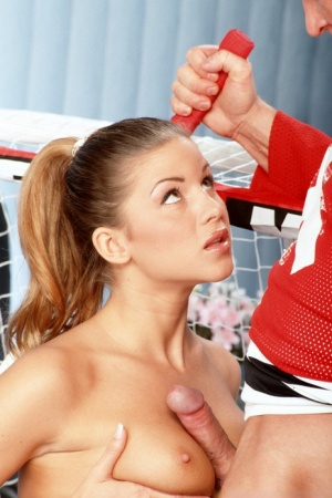 Blonde tennis player Monica Sweetheart gets banged by a hockey player 31201528