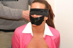 Big titted secretary is blindfolded and gagged with duct tape 38179792