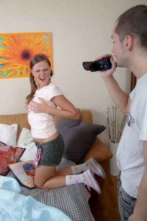 Charming teen Katrina goes pussy to mouth with a large penis in socks 72548624