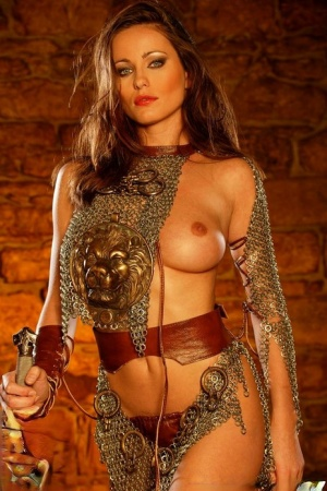 Solo model Kyla Cole releases her firm tits from her cosplay costume 74114548