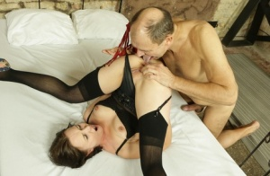 Teen girl is forced into hardcore sex acts with an old man by a masked man 77986546