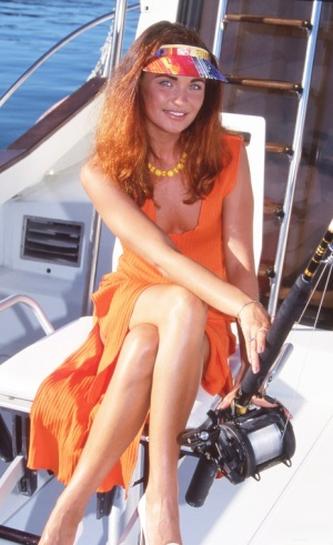 Petite girl Nina takes a cumshot after anal sex while fishing on a boat