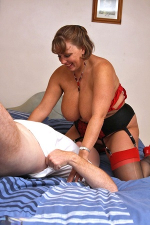 British plumper Curvy Claire gets into a 69 while sucking on a small cock 49081505