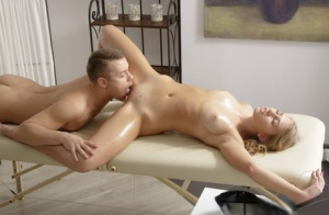Young blonde Milana C engages in sexual intercourse with her masseur 16364482