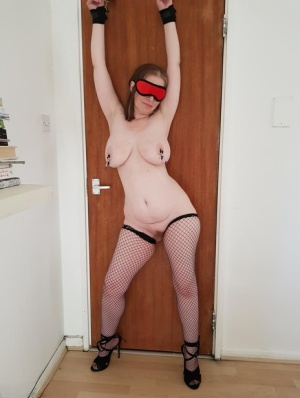 Busty mature amateur Posh Sophia submits to a couple in a dungeon setting 67599112