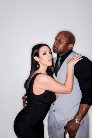 Hot brunette Angela White takes a big black cock in her filthy asshole 15468159