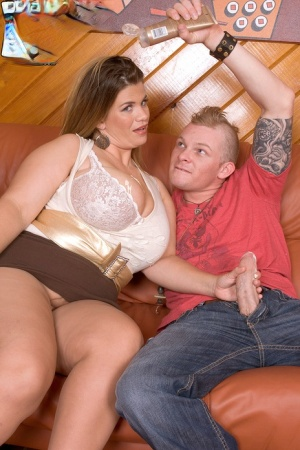 Fat cougar Hayley Jane seduces a boy while wearing a miniskirt 50111889